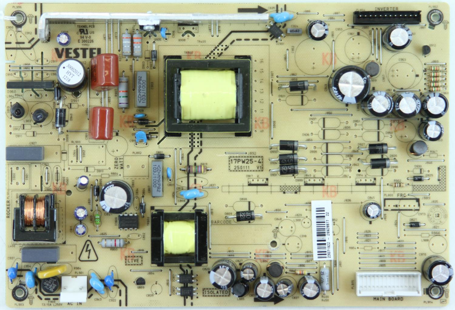 Celcus LCD325913HD - PSU - 17PW25-4 - 250111 - V1 - 23071922