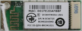 Dell - Bluetooth Card - 0CW725