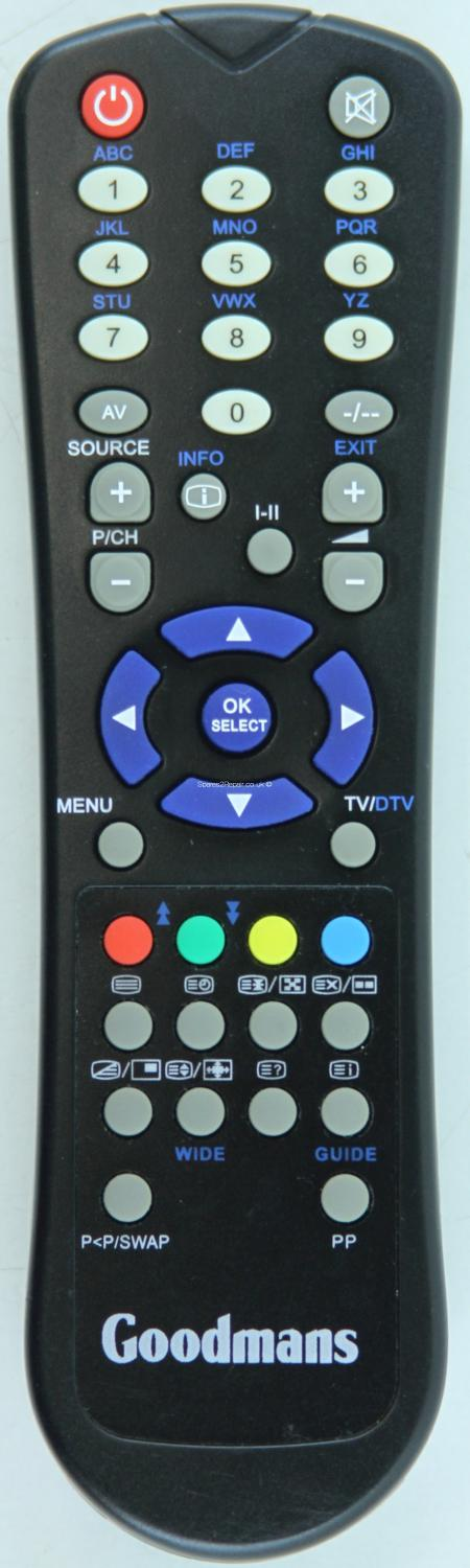 Goodmans Generic Digital TV Remote Control (Original)