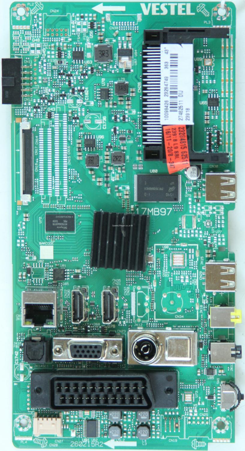 Hitachi 42HBT42UK - Main AV - 23284749 - 17MB97 - 260215R2