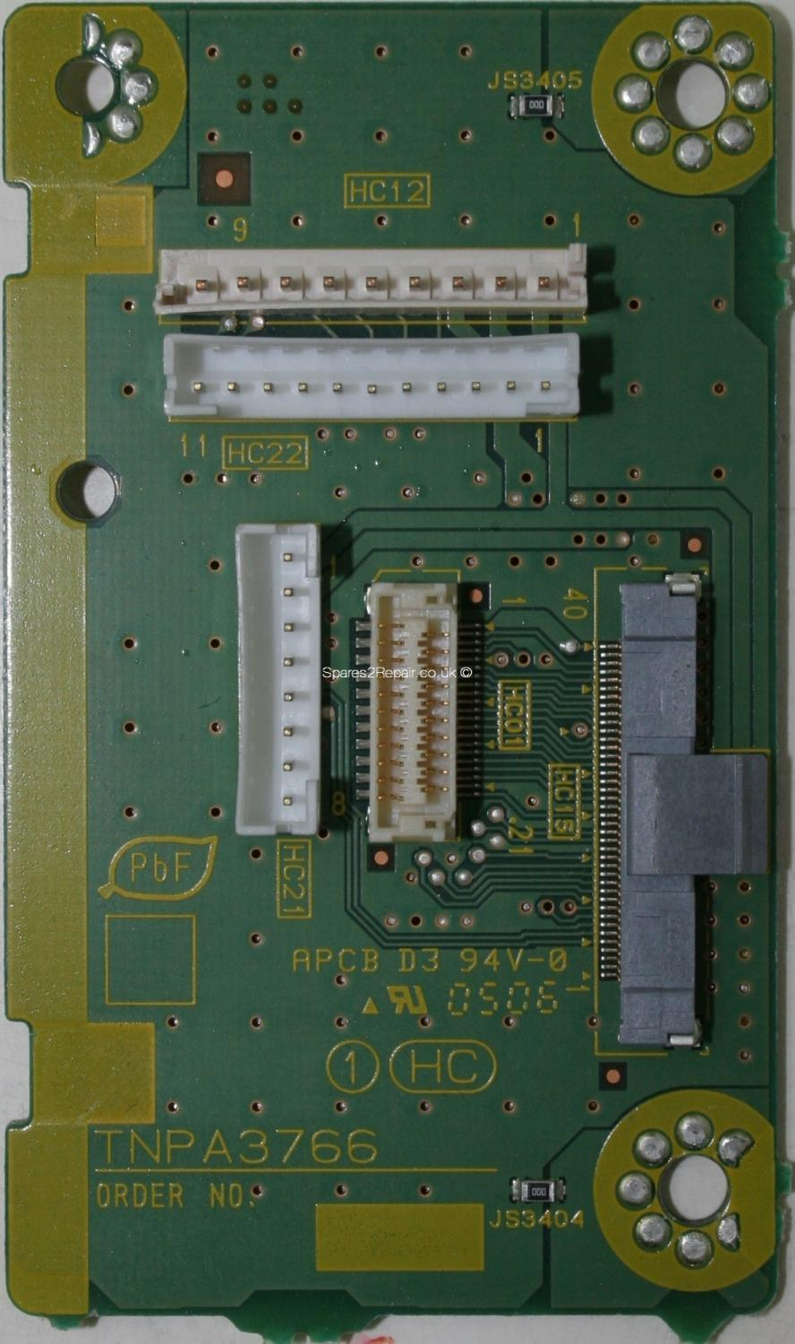 Panasonic TH-37PX60B - Connector - TNPA3766