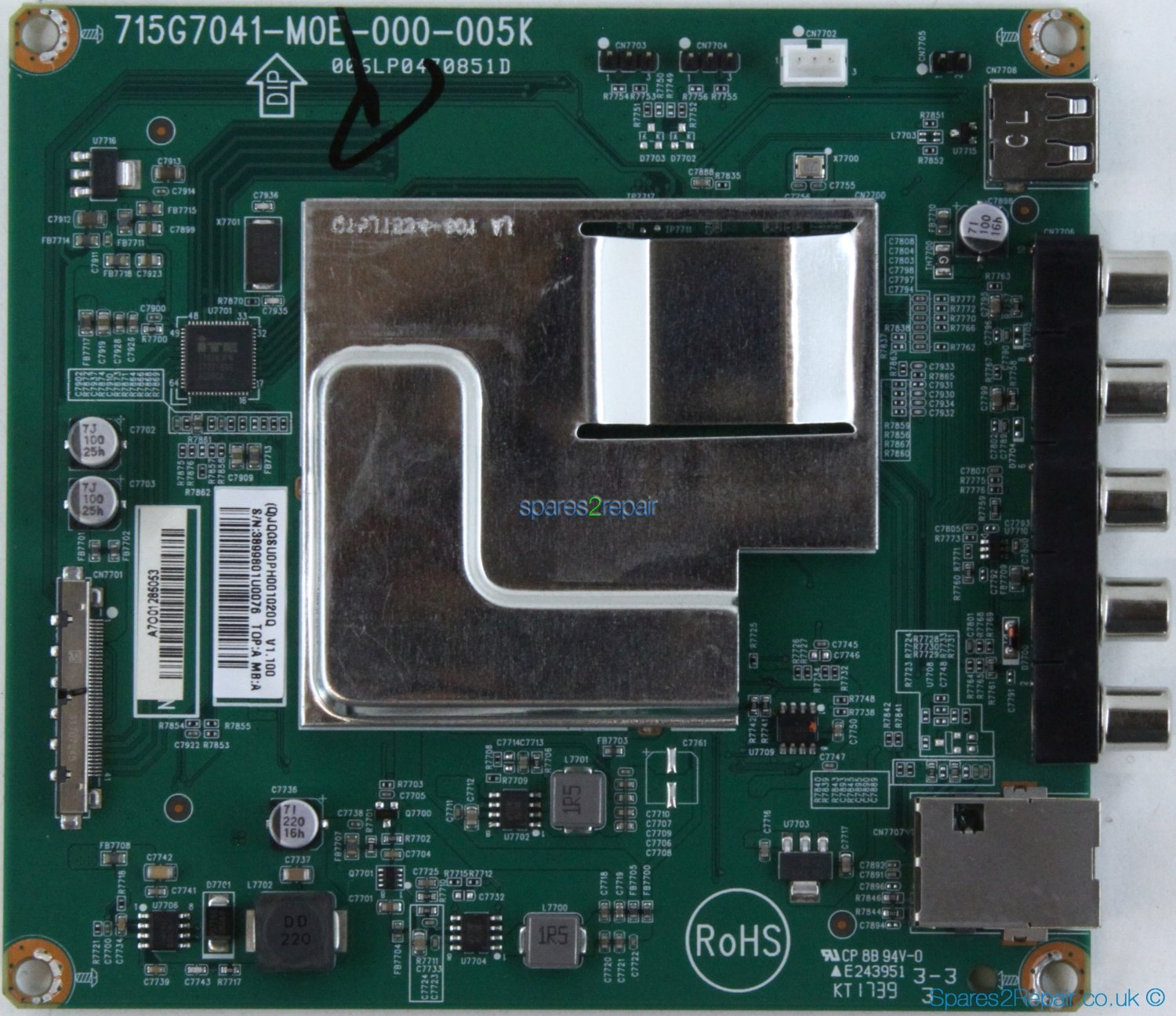 Philips 75BDL3000U - AV Board - 715G7041-M0E-000-005K - 006LP0470851D
