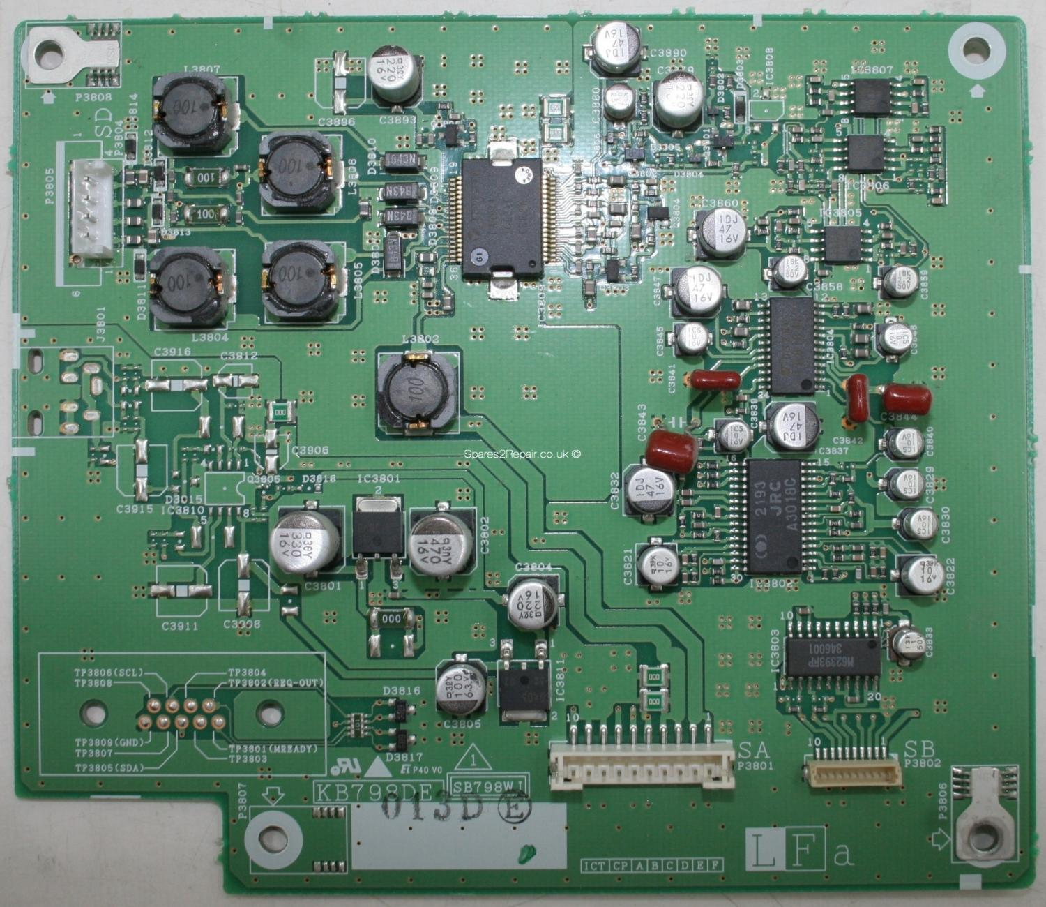 Sharp LC-30HV4E - Board - KB798DE - SB798WJ