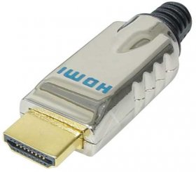 Hdmi-plug - Hdmi Plug Solder, Gold Plated Contacts, Metal Housing