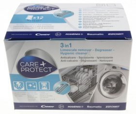 Care+Protect 3 in 1 Descaler for Washing Machines and Dishwashers - 12 pack