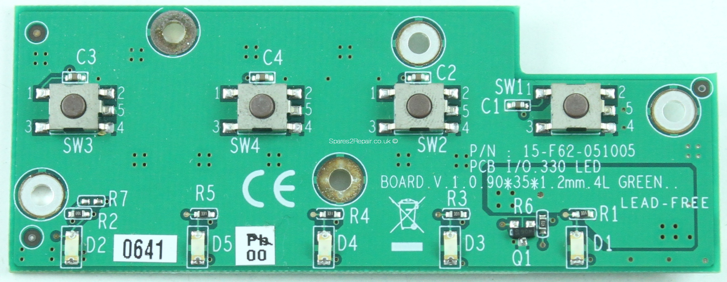 Advent 7109 - Button & LED Board - 15-F62-051005