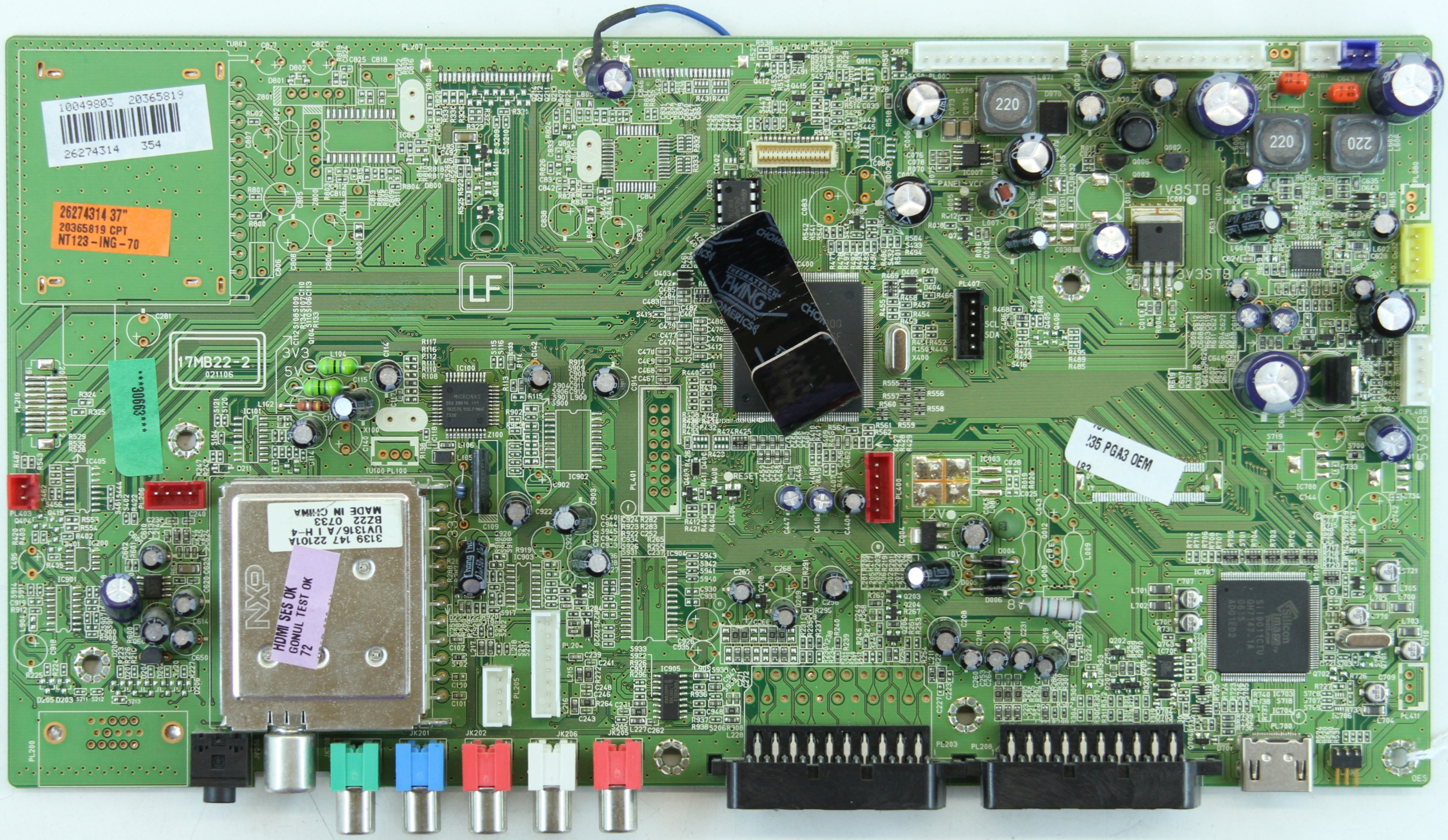 Bush LCD37805HD - Main AV - 17MB22-2 - 021106 - 20365819