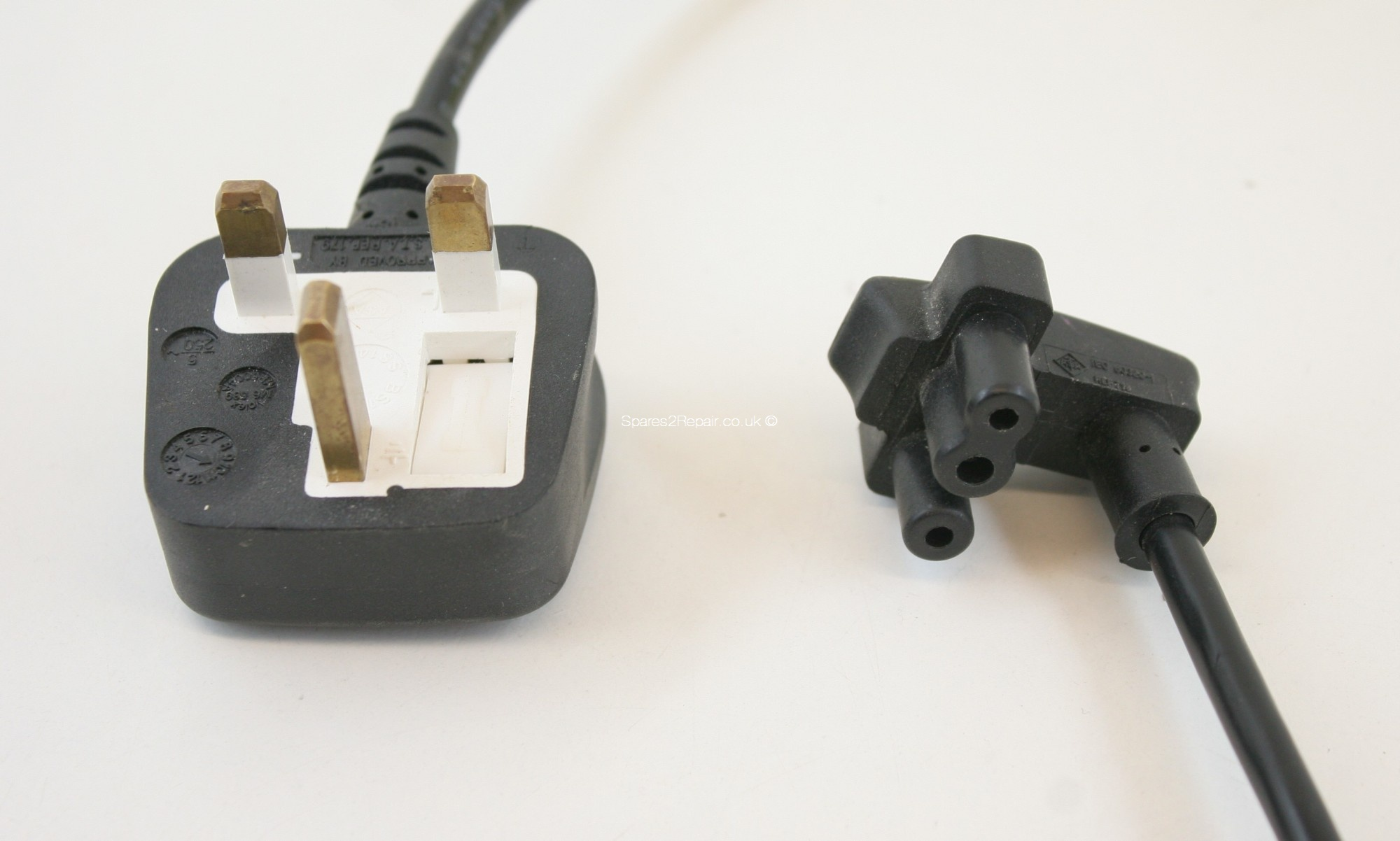 UK Mains Plug to IEC 60320-1 - For Dell Chargers