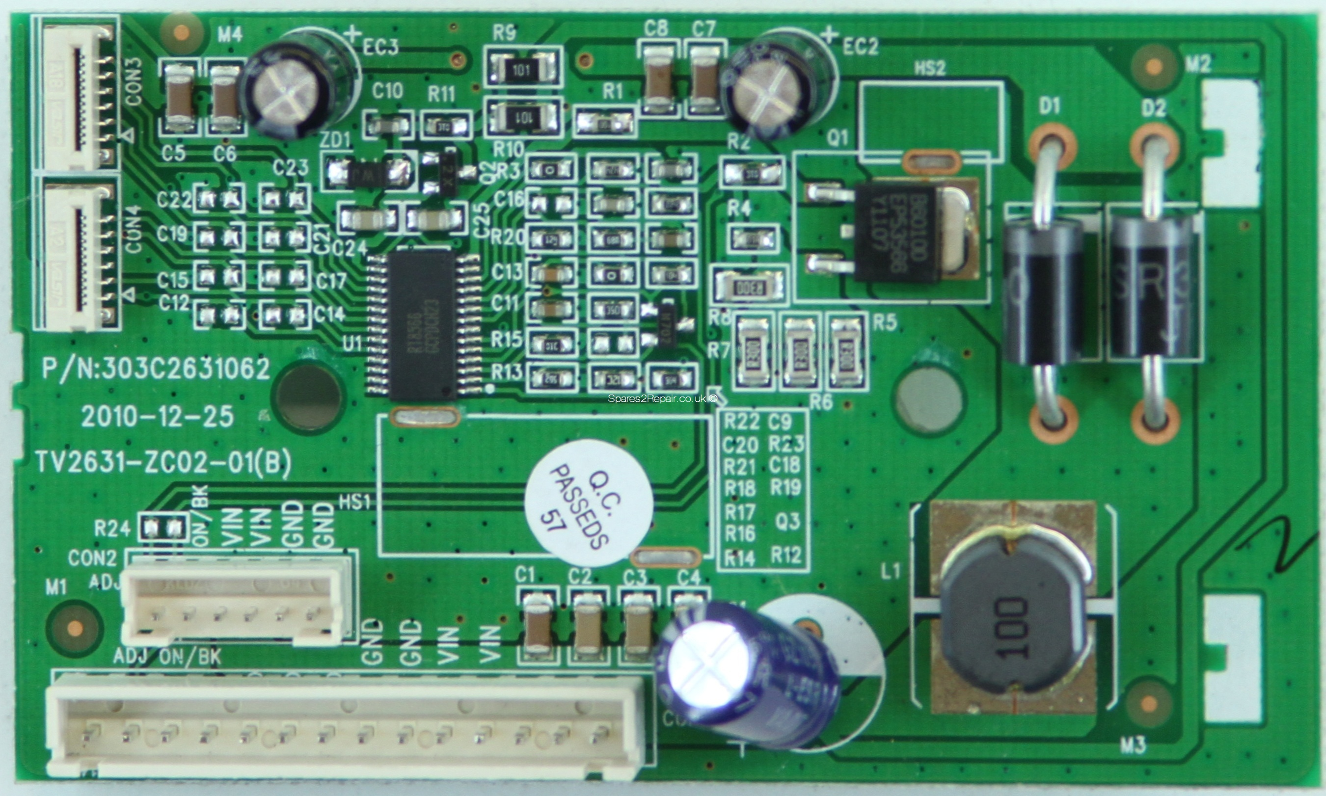 Haier LET26C430 - Board - TV2631-ZC02-01(B) - 303C2631062