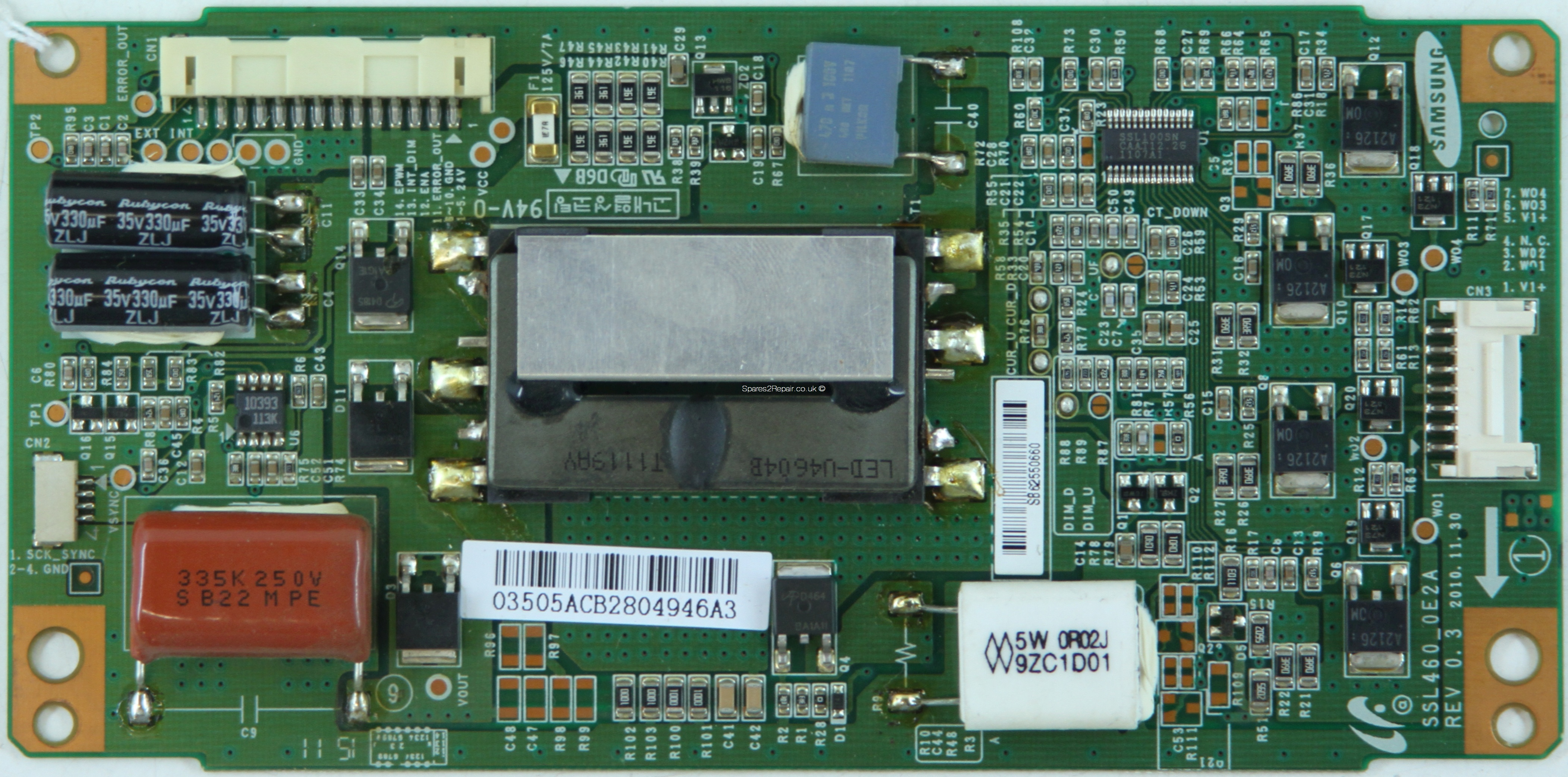 HiSense 46K360M - LED Driver Board - LJ97-03505A - REV 0.3 - SSL460_0E2A