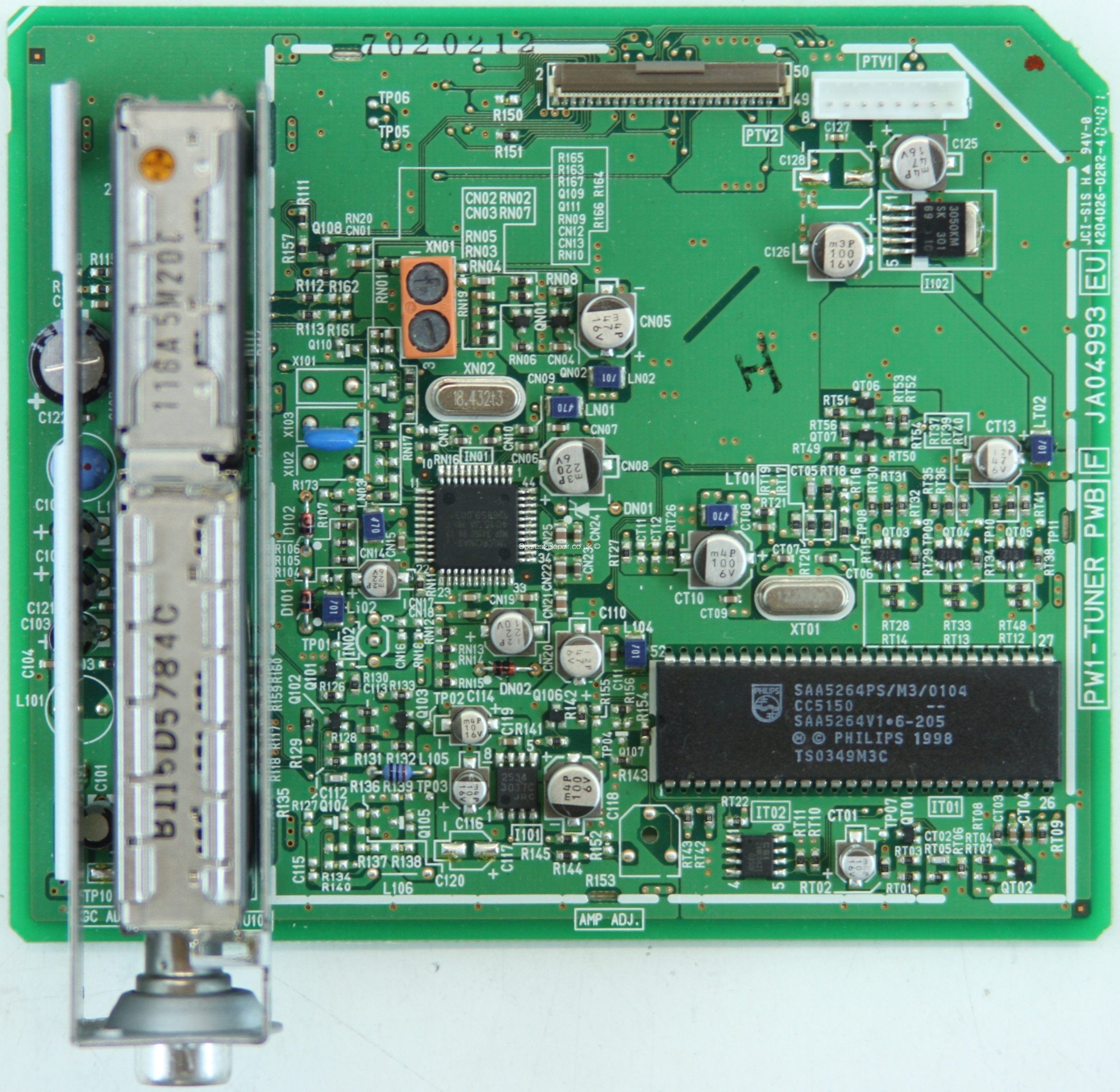 Hitachi 37PD5000 - Tuner Board - JA04993 - PW1-TUNER PWB