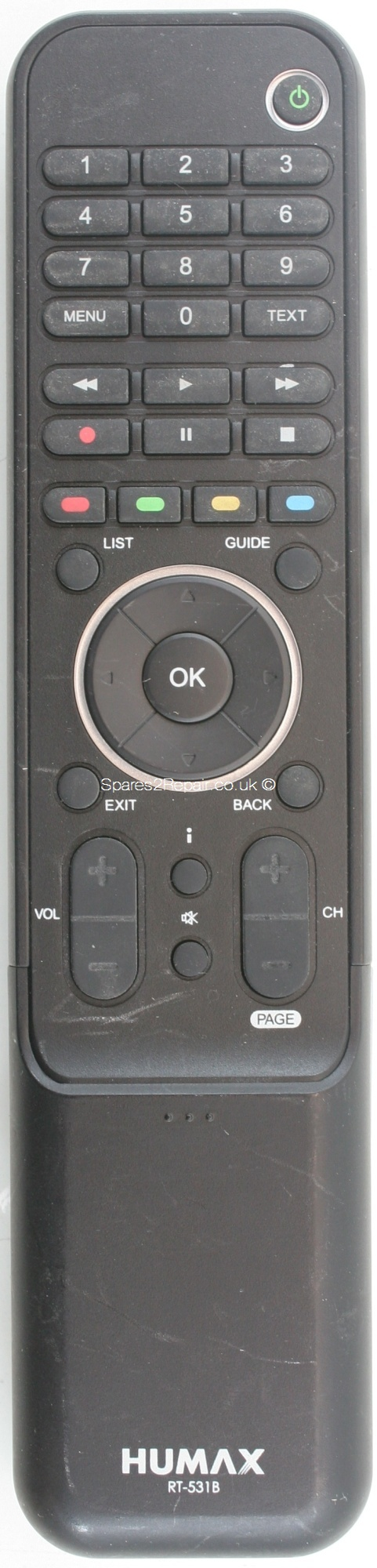 Humax RT-531B Remote Control (Original)