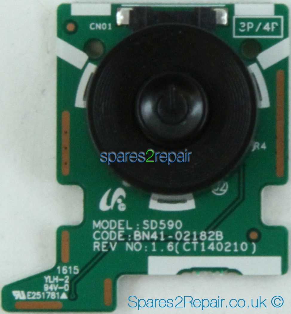 Samsung T27D390S - Power Button - BN96-32603E - BN41-02182B - REV NO:1.6(CT140210) - SD590